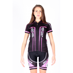 Cycling Jersey Short Sleeves Black-Pink