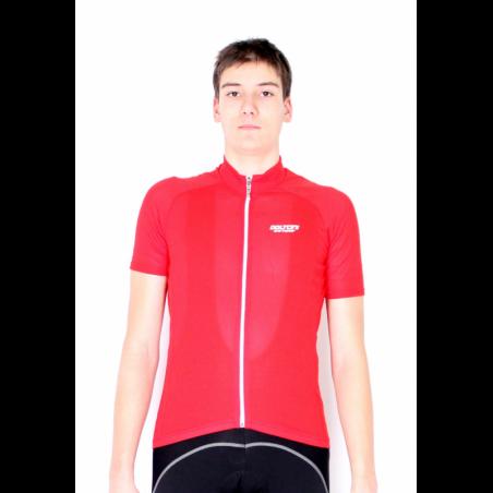 Cyclisme à manches courtes jersey Uni Red