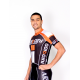 Cycling Jersey Short Sleeves PRO orange - NAPOLI