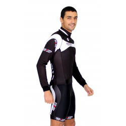 Cycling Jersey Long Sleeves black - MALAGA