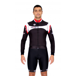 Cycling Jersey Long Sleeves red - MALAGA