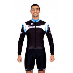 Cycling Jersey Long Sleeves blue - MALAGA