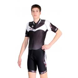 Cycling Aerosuit Short Sleeves white - MALAGA