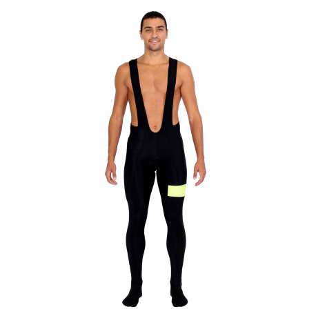 Cycling Bibtight winter pro fluo yellow - ZAMORA