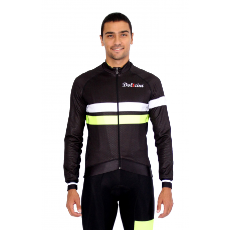 Cycling Jacket midseason pro fluo yellow - ZAMORA