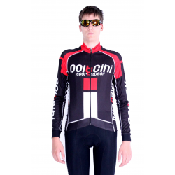 Cycling Jersey Long Sleeves PRO red - NAPOLI