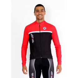 Cycling Jersey Long Sleeves classic red- TOLEDO