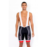 Cycling Pant BIB with pad pro red - TOLEDO