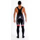 Cycling BibTight winter with pad pro red - TOLEDO