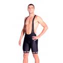Cycling Pant Bib with pad Long Distance uni pro - black
