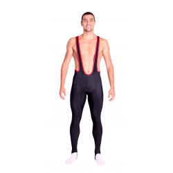 Колоездачен дълъг клин с презрамки и подложка Uni Long Distance - black