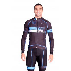 Cycling Jersey Long sleeves pro Blue - HERO