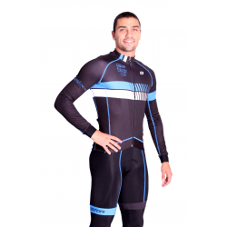 Cyclisme à Maillot manches longues pro Blue - HERO