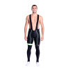 Cycling Bibtight winter pro with pad Fluo/Green - HERO