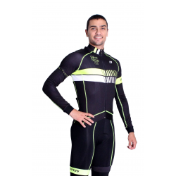 Cycling Jersey Long sleeves Fluo/Yellow - HERO