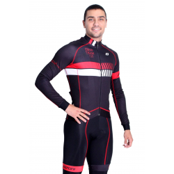 Cycling Jersey Long sleeves pro Red - HERO