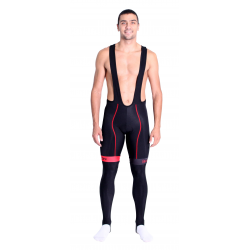 Cycling Bibtight winter pro with pad Red - HERO