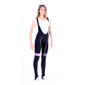 Cycling Lady Bibtight winter pro with pad Fluo/Pink - HERO