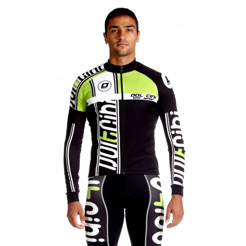 Cycling Jersey Long Sleeves green - MADRID
