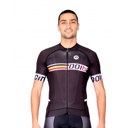 Cycling Jersey Short Sleeves PRO black - SANTIAGNO