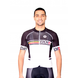 Cycling Jersey Short Sleeves PRO white - SANTIAGNO