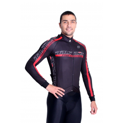 Cycling Jersey Long Sleeves pro Red - PROFESSIONAL