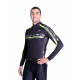 Cycling Jersey Long Sleeves pro Fluo Yellow - PROFESSIONAL