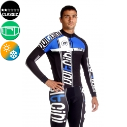 Cycling Jersey Long Sleeves blue - MADRID