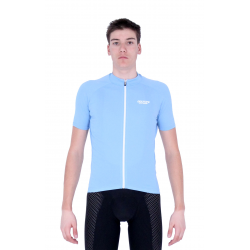 Cycling Jersey Short Sleeves Uni Light Blue