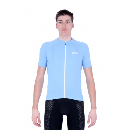 Cycling Jersey Short Sleeves Uni Dark Light Blue