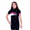 Cycling Kids Jersey Short Sleeves Classic - HERO PINK