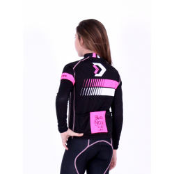 Cycling Kids Jersey Long Sleeves Classic - HERO FLUO PINK