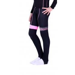 Cycling Kids Bibtight Winter Classic with Pad - HERO FLUO PINK