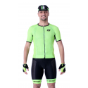 Cycling Jersey Short Sleeves Performance - UNI Fluo Green