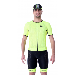 Cycling Jersey Short Sleeves Performance - UNI Fluo Yellow