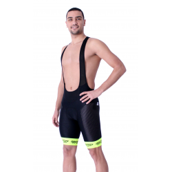 Cycling Pant Bib - Long Distance Fluo Yellow PRO