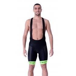 Cycling Pant Bib - Long Distance Fluo Green PRO