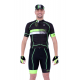 Cycling Jersey Short sleeves pro Fluo/Green - HERO