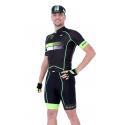 Колоездачно джърси с къс ръкав Долчини HERO, Черен/Зелен