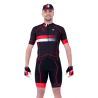 Cyclisme à Maillot manches courtes pro Red - HERO
