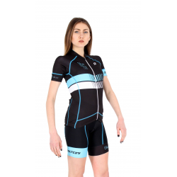 Cyclisme à Maillot manches courtes Turquoise - HERO