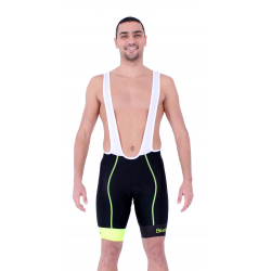 Cycling Pant Bib pro with pad Fluo/Yellow - HERO