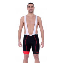 Cycling Pant Bib pro with pad Red - HERO