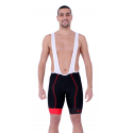 Cycling Pant Bib pro with pad Red - HERO