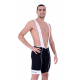 Cycling Pant Bib pro with pad White - HERO