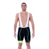 Cycling Pant Bib pro with pad Fluo/Green - HERO