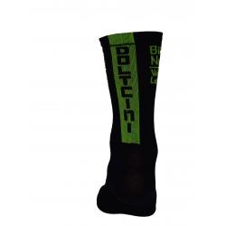 Socks High Summer HERO black-fluo green