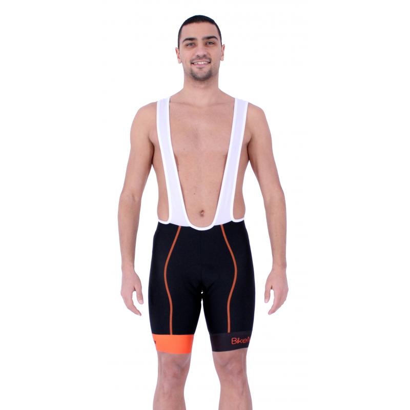 Cycling Pant Bib pro with pad Orange - HERO