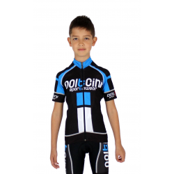 Cycling jersey short sleeves PRO KIDS blue - NAPOLI