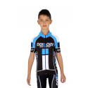 KIDS Cycling Jersey short sleeves ELITE blue - NAPOLI